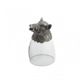 Arte Italica Animale Boar Liqueur Glass