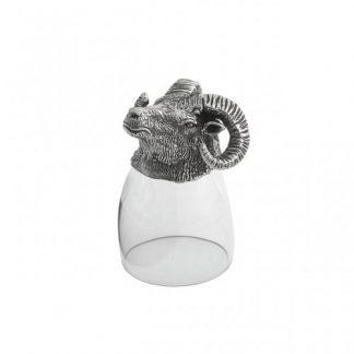 Arte Italica Animale Ram Liqueur Glass