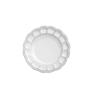 Arte Italica Bella Bianca Beaded Bread Plate