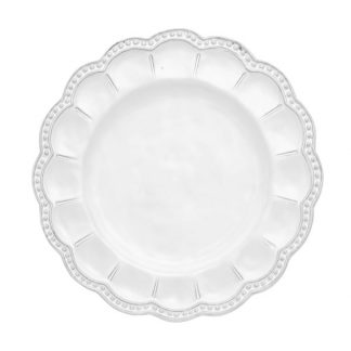 Arte Italica Bella Bianca Beaded Salad Plate