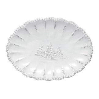 Arte Italica Bella Natale Small Oval Platter