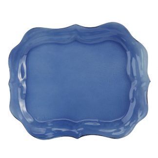 Arte Italica Burano Glass Large Blue Tray