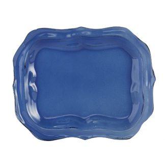 Arte Italica Burano Glass Small Blue Tray Set of 2