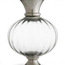 Arte Italica Giovanna Pewter And Crystal Vase