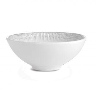 Arte Italica Graffiata White Salad Bowl