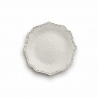 Arte Italica Merletto Antique Scalloped Salad/Dessert Plate