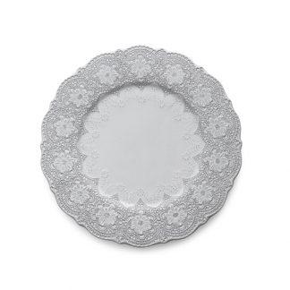 Arte Italica Merletto White Charger/Dinner