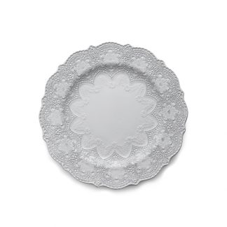 Arte Italica Merletto White Dinner Plate