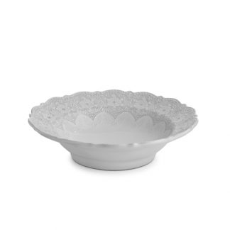 Arte Italica Merletto White Serving Bowl