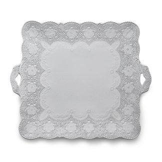 Arte Italica Merletto White Square Platter