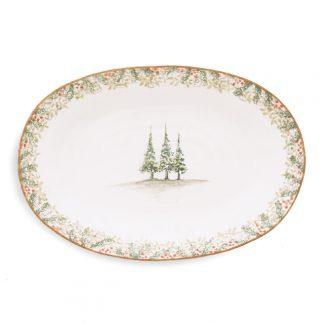 Arte Italica Natale Oval Platter