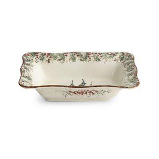 Arte Italica Natale Rectangular Bowl