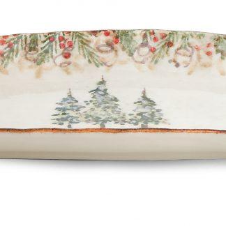 Arte Italica Natale Rectangular Tray