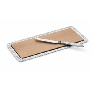 Arte Italica Peltro Cheese Board With Knife