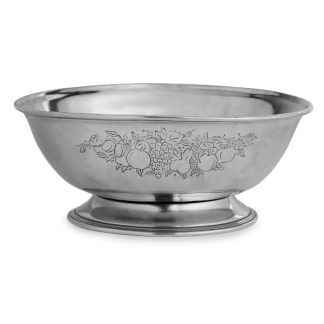 Arte Italica Peltro Footed Fruit Bowl