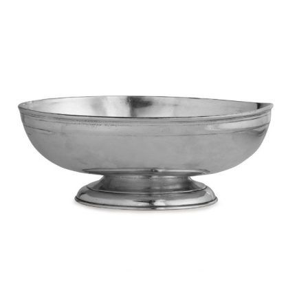 Arte Italica Peltro Footed Oval Bowl