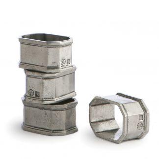 Arte Italica Peltro Napkin Ring Set
