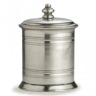 Arte Italica Roma Small Pewter Canister