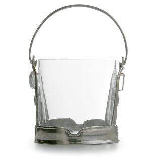 Arte Italica Taverna Crystal Ice Bucket With Handle