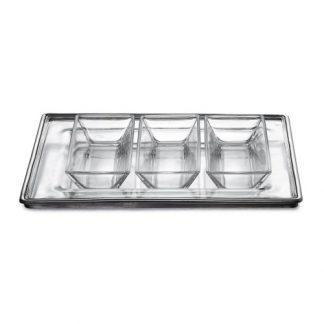 Arte Italica Tavola Rectangular Tray And Dipping Bowl Set