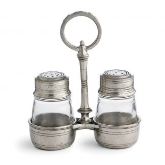 Arte Italica Tavola Small Salt & Pepper With Caddy
