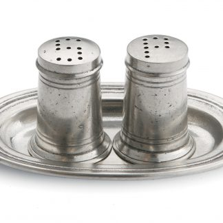Arte Italica Tavola Small Salt & Pepper With Tray