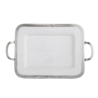 Arte Italica Tuscan Small Rectangular Tray With Handles
