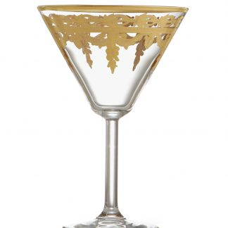 Arte Italica Vetro Gold Martini Glass