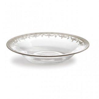 Arte Italica Vetro Silver Pasta/Soup Bowl