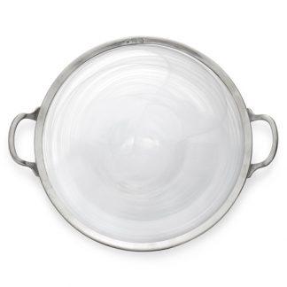 Arte Italica Volterra Round Platter With Handles