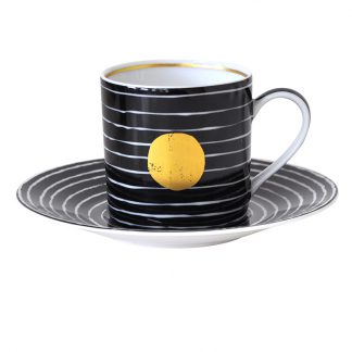 Bernardaud Aboro Coffee Cup And Saucer