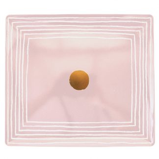 Bernardaud Aboro Rectangular Tray 8.7'' X 7.7'' Pink