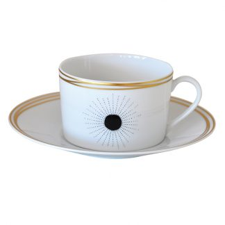 Bernardaud Aboro Set Of 2 Breakfast Cups And Saucers