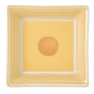 Bernardaud Aboro Valet Tray 3'' X 3'' Yellow
