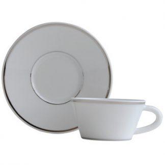 Bernardaud Argent Coffee Cup And Saucer
