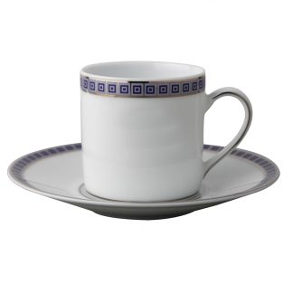 Bernardaud Athena Navy Coffee Cup Saucer