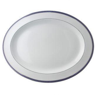 "Bernardaud Athena Navy Oval Platter 17"""