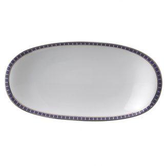 """Bernardaud Athena Navy Relish Dish 9"""" X 5"""""""