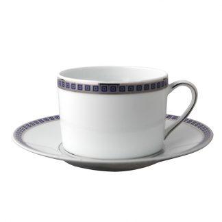Bernardaud Athena Navy Tea Cup Saucer