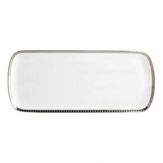 """Bernardaud Athena Platine Cake Platter Rectangular 16"""""""