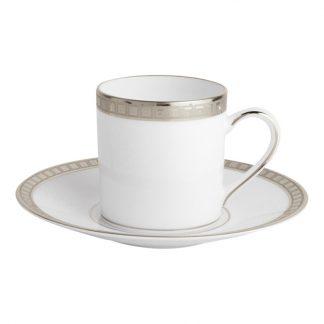 Bernardaud Athena Platine Coffee Cup And Saucer
