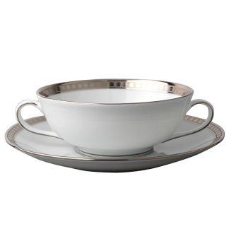 Bernardaud Athena Platine Cream Cup And Saucer