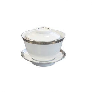Bernardaud Athena Platine Small Covered Cup