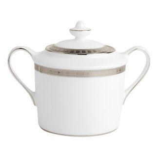 Bernardaud Athena Platine Sugar Bowl 6c