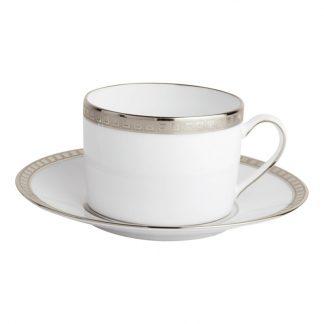 Bernardaud Athena Platine Tea Cup And Saucer