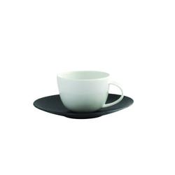 Bernardaud Bulle Sable Coffee Cup And Saucer (Black)
