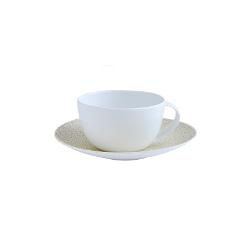 Bernardaud Bulle Sable Tea Cup And Saucer (Gold)