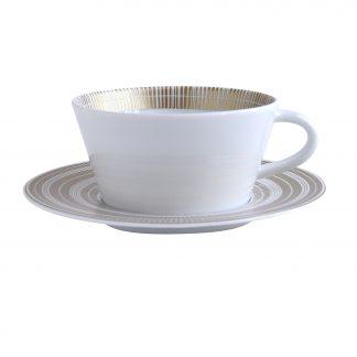 Bernardaud Canisse Tea Cup & Saucer 5.7 Oz