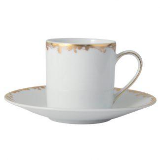 Bernardaud Capucine Coffee Cup Saucer
