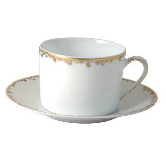 Bernardaud Capucine Tea Cup Saucer